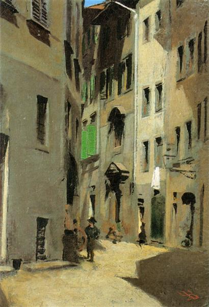 Via Torta, Firenze, 1870 - Telemaco Signorini