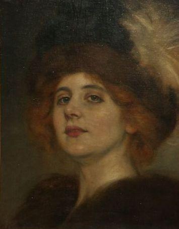 Retrato De Teresa Wilms Montt Firmado - Antonio de La Gándara