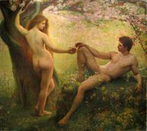 Adam Et Eve - Gustave Courtois
