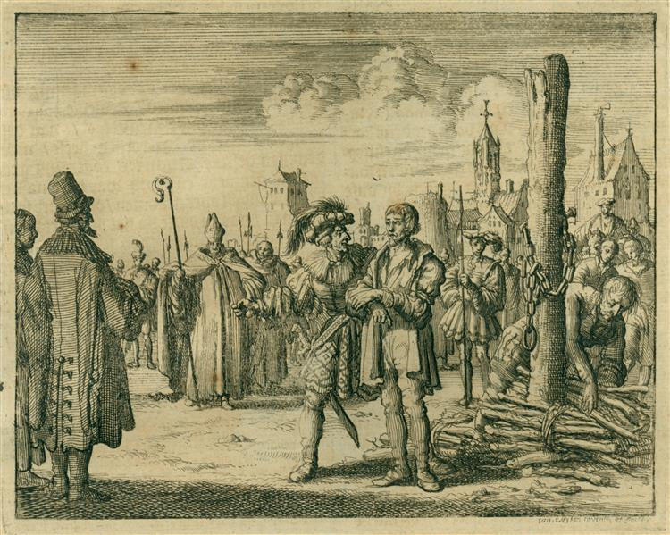 Burning of William White, a Priest, Norwich, England, AD 1428, 1684 - Jan Luyken