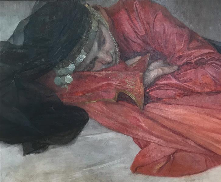 Girl in Oriental Costume - Alphonse Mucha