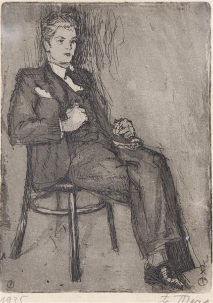 A Man Sitting, 1935 - Haralampi Tachev