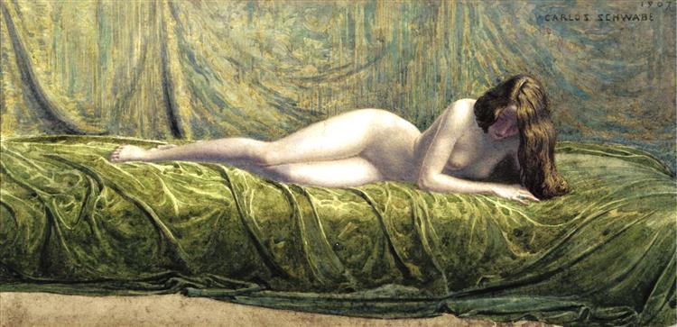 The Jade Ring, 1907 - Carlos Schwabe