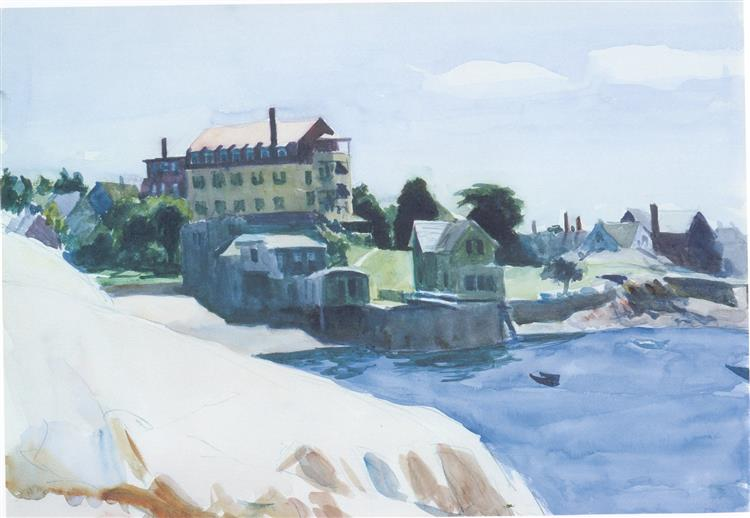 Small Town on Cove, 1923 - Edward Hopper