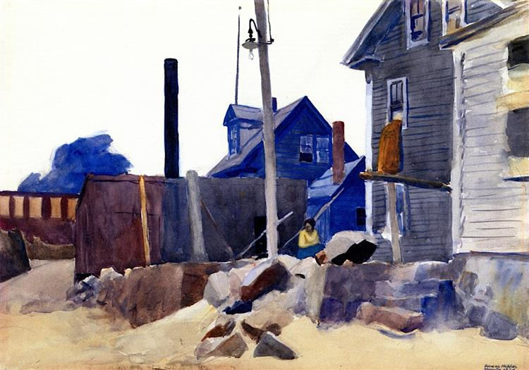 House on the Shore, 1924 - Edward Hopper