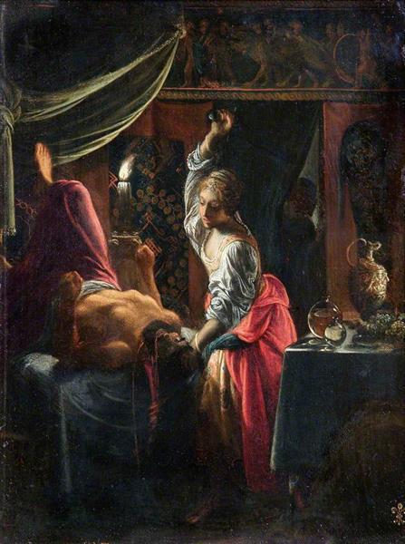 Judith slays Holofernes, 1603 - Adam Elsheimer