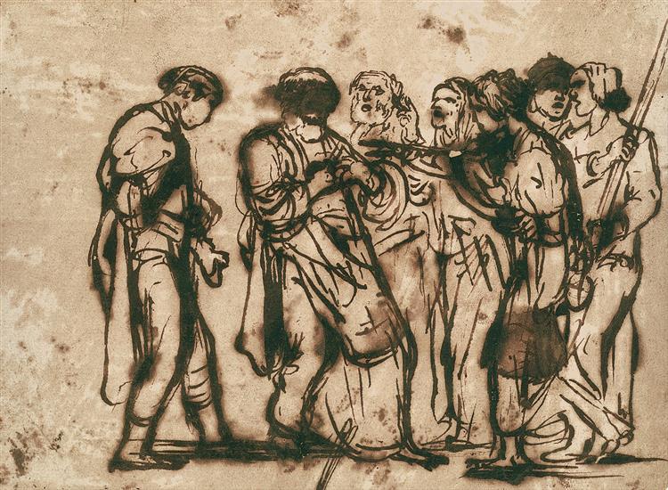 The Denial of Peter, c.1600 - c.1605 - Adam Elsheimer