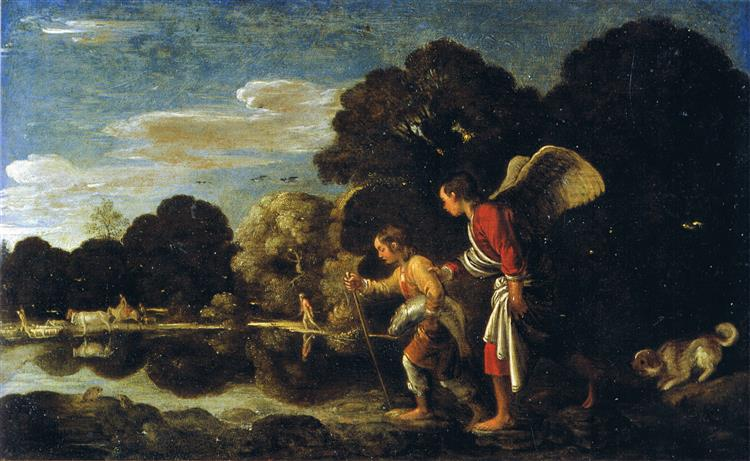 Tobias and the angel, 1606 - Adam Elsheimer