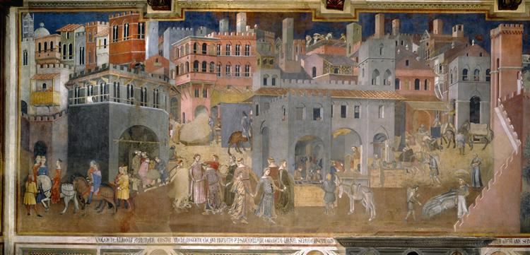 Effects of Good Government in the City, 1338 - 1339 - Ambrogio Lorenzetti