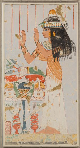 Menna's Daughter Offering to Her Parents, c.1422 - c.1411 BC - Ancient Egypt