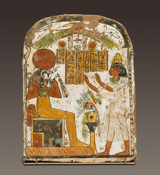 Painted Stela of Djedbastet, c.825 - c.712 BC - Ancient Egyptian Painting