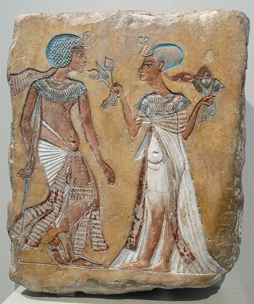 Smenhkara and Meritaton, c.1351 - c.1334 BC - Ancient Egypt