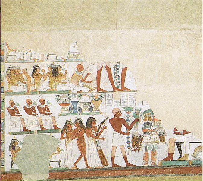 """Das """"schöne Fest Vom Wüstental"""", c.1390 BC - Ancient Egypt"""
