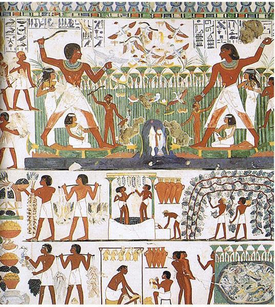 Nacht Bei Der Jagd Und Beim Fischen, c.1390 BC - Ancient Egyptian Painting