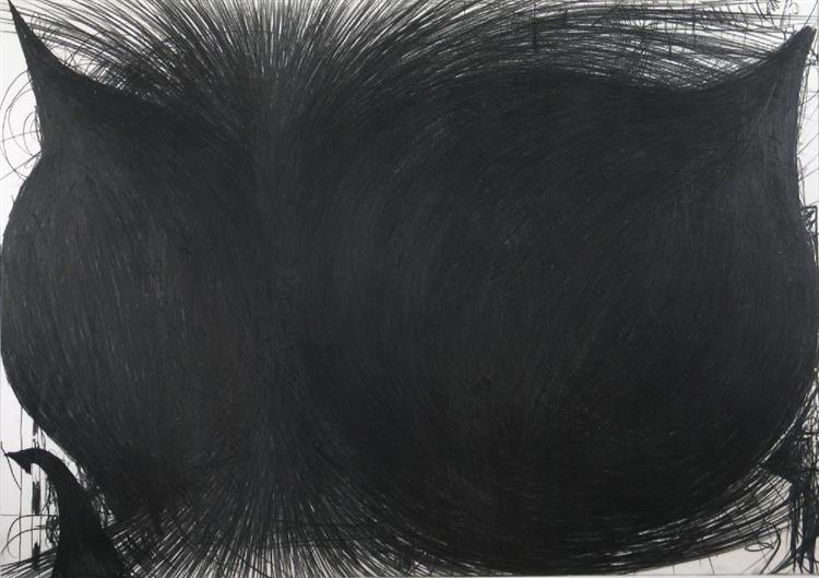 Black Drawing (Les Onions) 3 - Dan Goorevitch