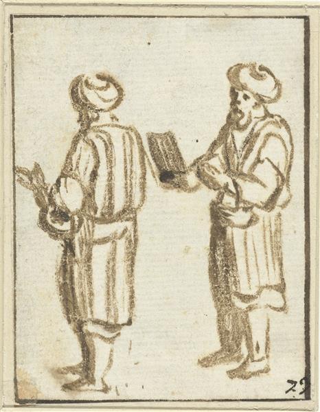 Two Standing Men with Turbans - Adam Elsheimer