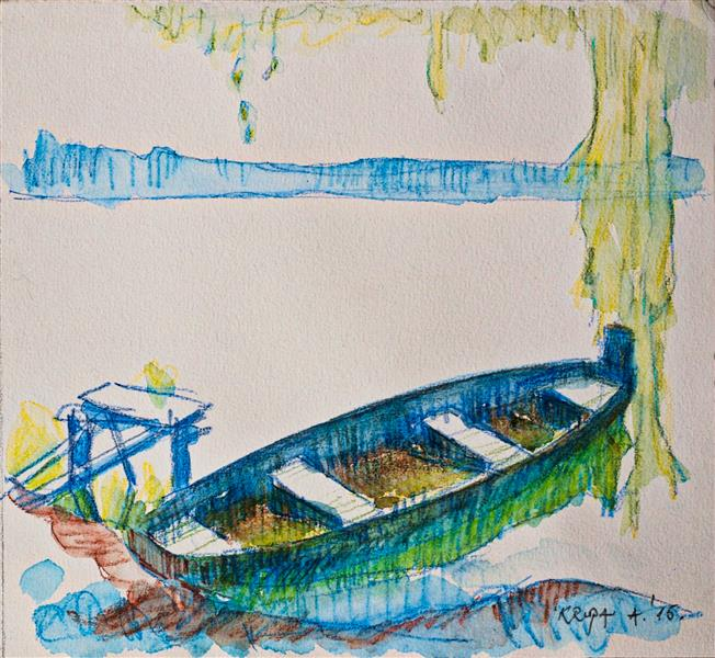 The boat at the lake, 2016 - Alfred Freddy Krupa