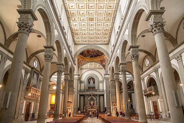 San Lorenzo, Florence, c.1419 - Filippo Brunelleschi