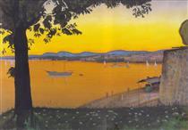 Oslo vista de Akershus - Harald Sohlberg