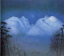 Noite de inverno em Rondane - Harald Sohlberg