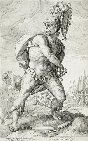 Titus Manlius Torquatos - Hendrick Goltzius