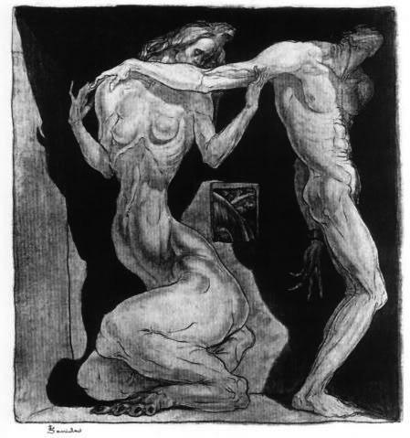 In Bondage of One's Muse, 1916 - Stanisław Szukalski