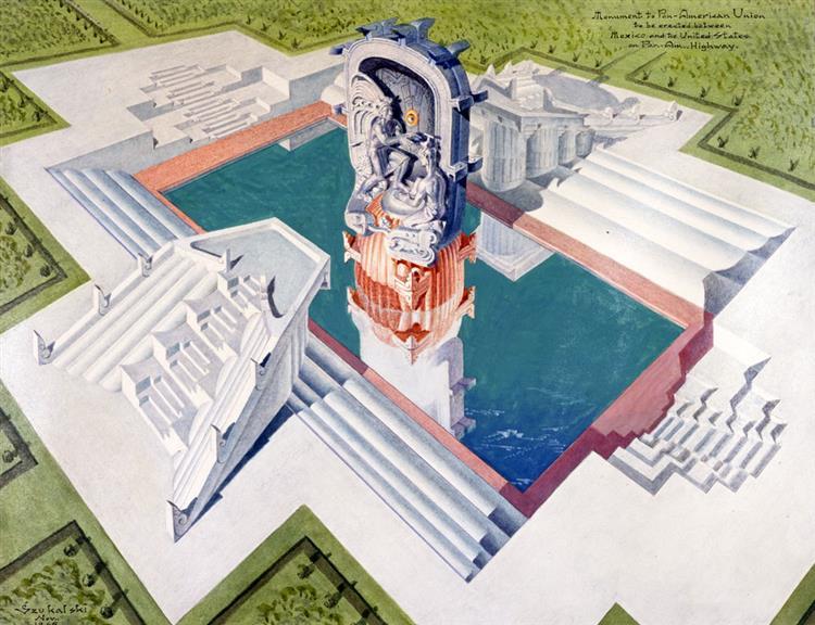 Monument to the Pan-American Union, 1927 - Stanisław Szukalski