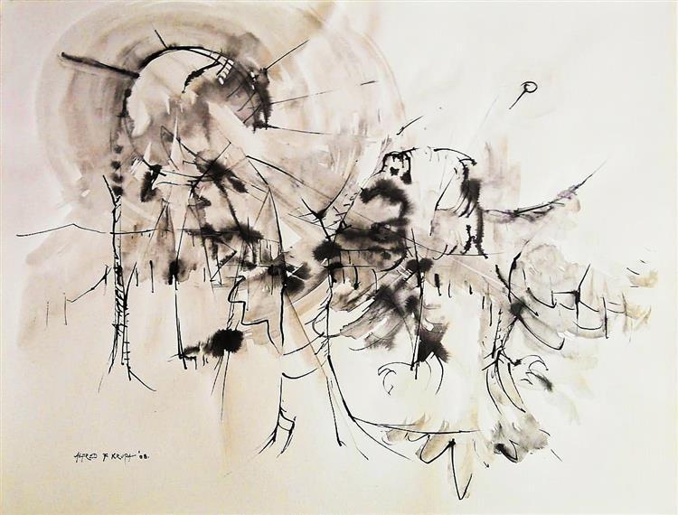 The bird is awakened, 2008 - Alfred Freddy Krupa