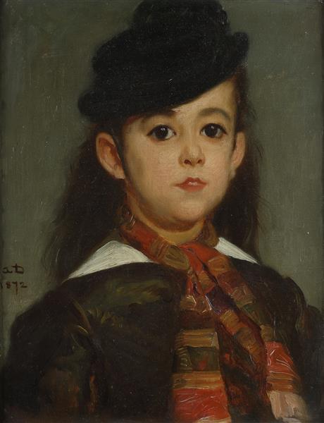 Portrait de Marie, fille de l'artiste (en 1872, moins d'un an avant sa mort), 1872 - Alfred Dehodencq