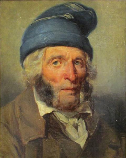Portrait d'homme au bonnet bleu - Charlet