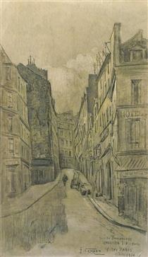 Vieux Paris, Quartier St Victor, La Rue Des Boulangers - Fernand Combes