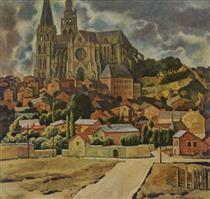 View on Leichlingen Cathedral - Werner Peiner