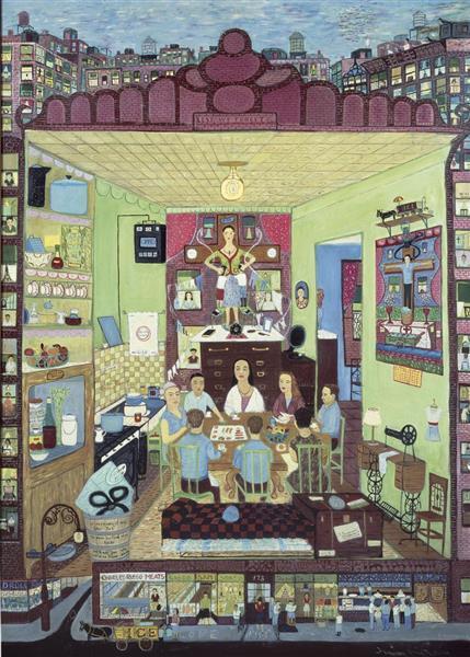 Family Supper - Ralph Fasanella