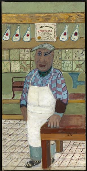 The Corner Butcher, 1968 - Ralph Fasanella