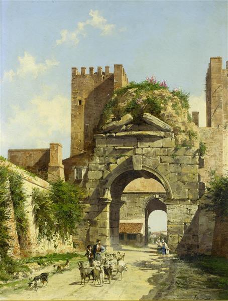 L'Arco Di Druso, Rome - Antonietta Brandeis