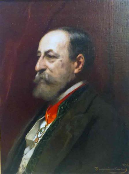 Portrait of Camille Saint-Saëns - Benjamin Constant