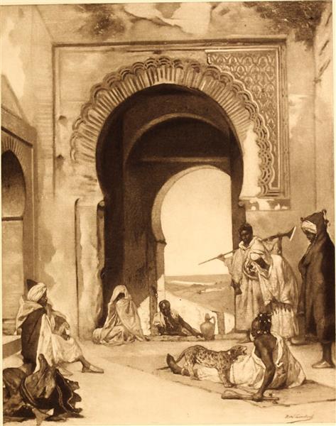 Scene in a Moorish Courtyard - Benjamin Constant