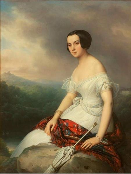 Vorontsova-Dashkova Alexandra, nee Naryshkina, 1845 - Charles de Steuben