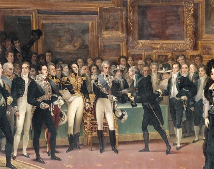 Distribution of Awards to Artists at the End of the 1824 Salon, January 15, 1825 - Charles de Steuben