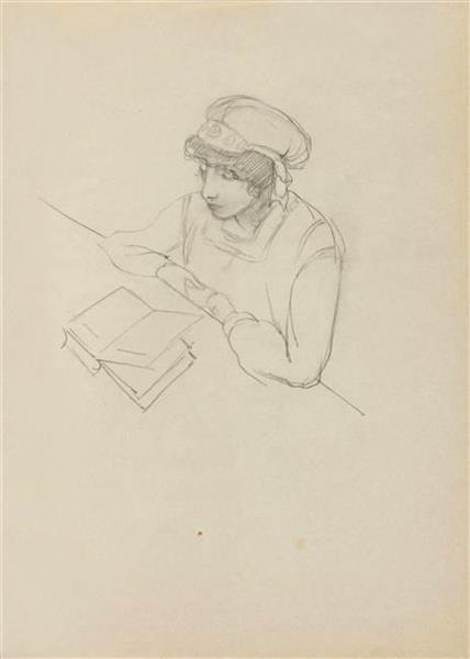 Nina Kandinsky, 1917 - Wassily Kandinsky