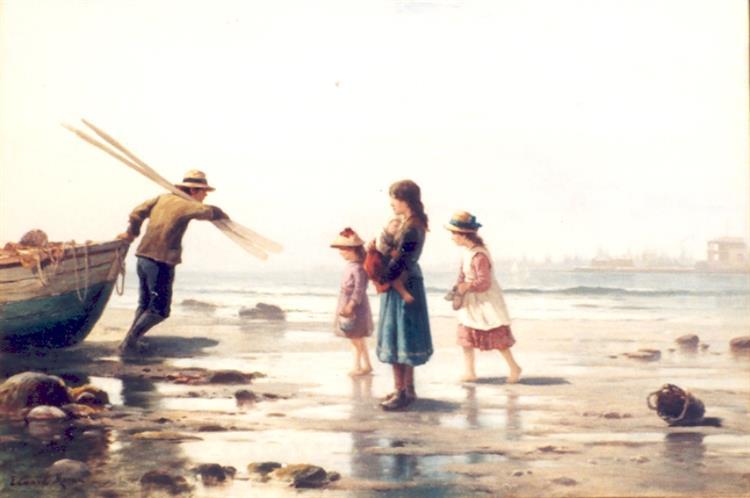 Homecoming NY Harbour, 1870 - Edward Moran