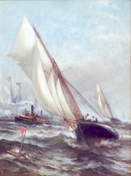 Puritan and Genesta, 1885 - Edward Moran
