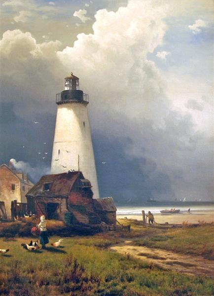 Sandy Hook Lighthouse, 1876 - Эдвард Моран