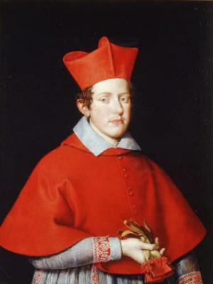 Ferdinando I Gonzaga as Cardenal - Giovanni Battista Salvi da Sassoferrato