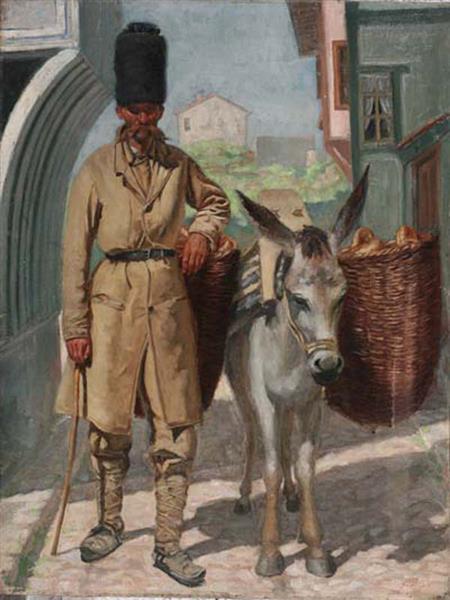 Bread seller, 1888 - Anton Mitov