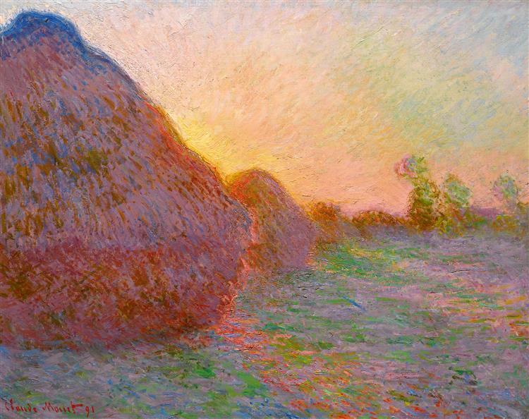Haystacks, 1890 - Claude Monet