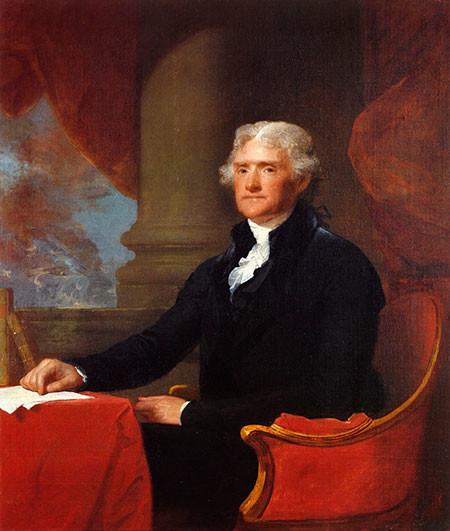 Thomas Jefferson, 1807 - Gilbert Stuart