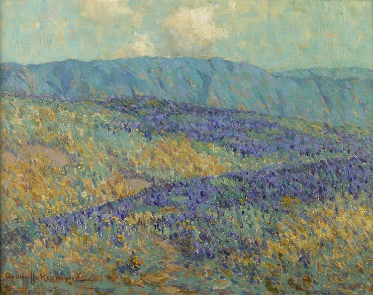 Blue Flowers - Granville Redmond