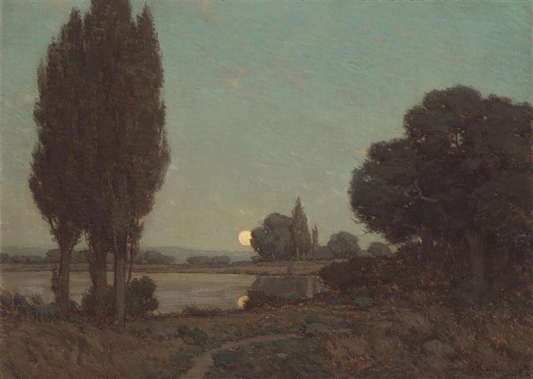 Moonlight Reflections - Granville Redmond