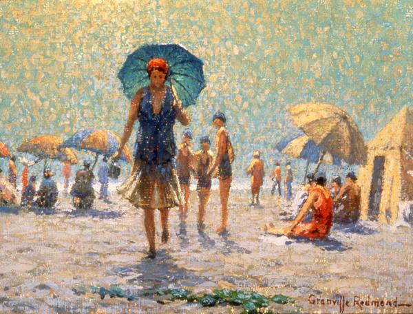 Talk on the Beach, 1931 - Granville Redmond